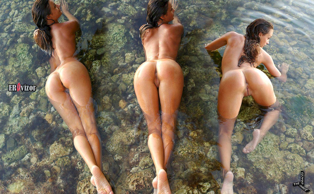 3 попки 1 голой девушки