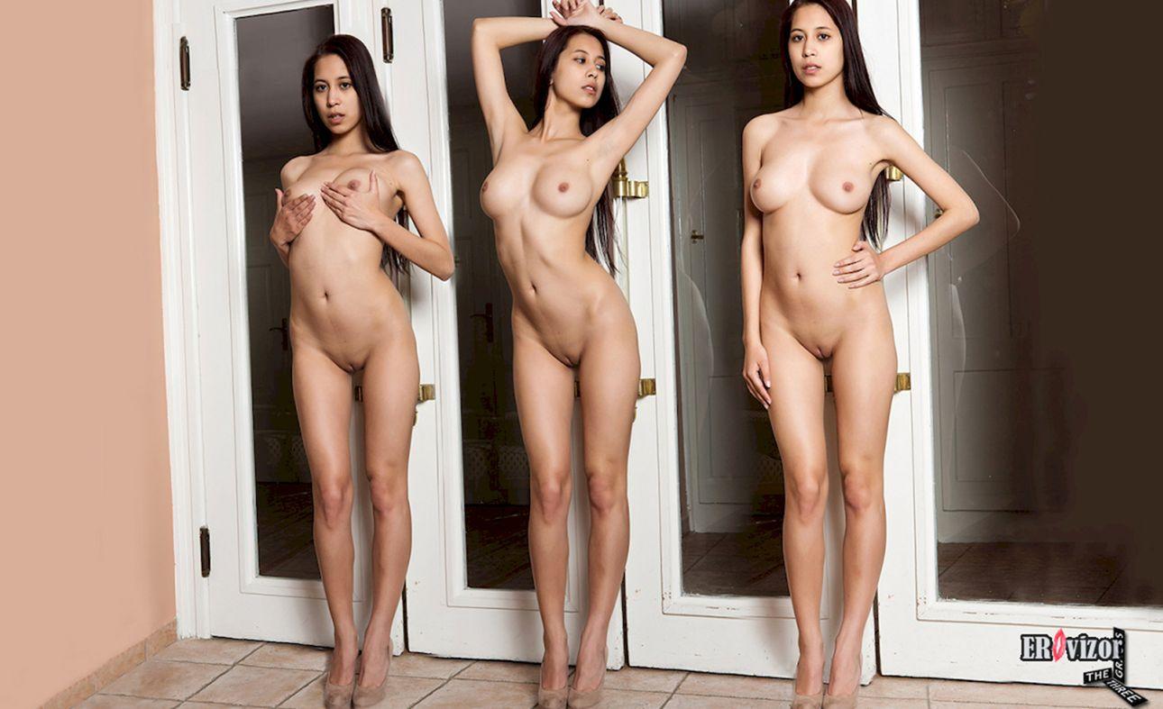 стройная голая девчонка на 3 фото