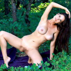 эротика красотки в лесу