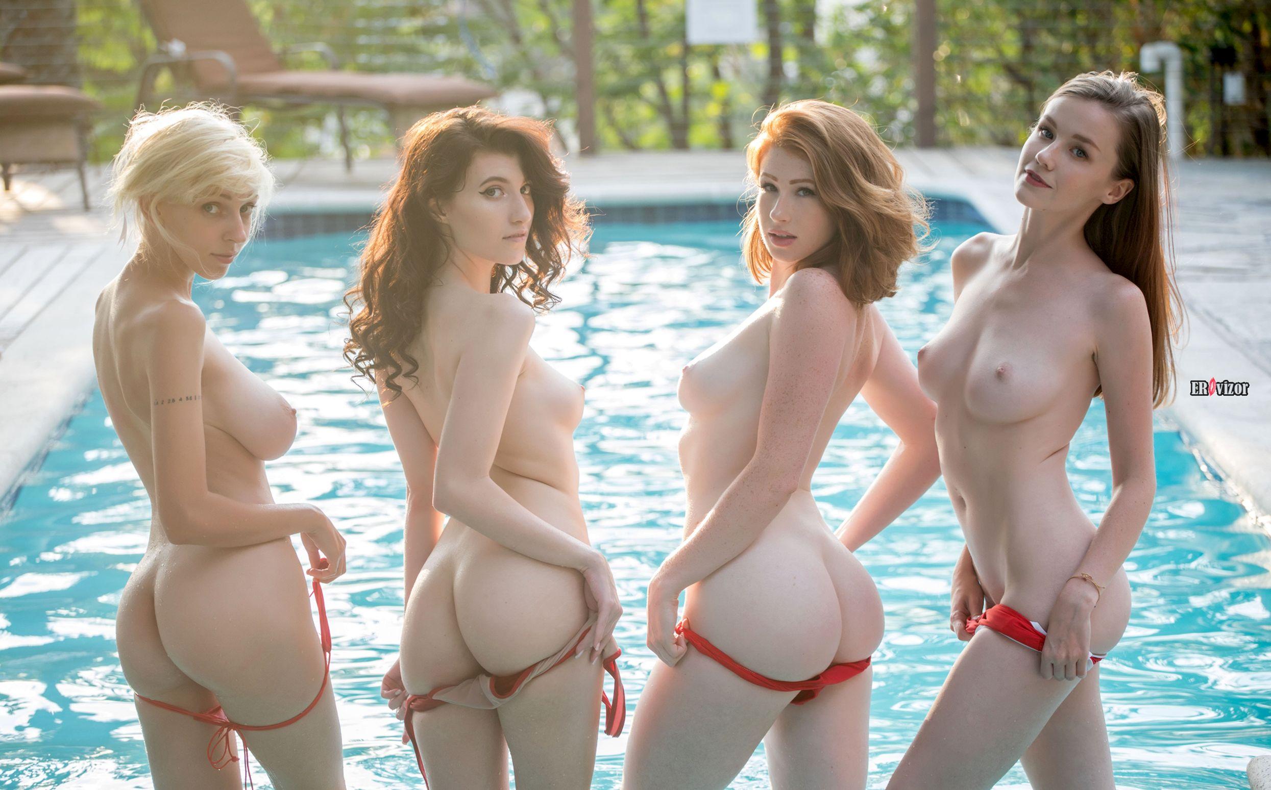 голенькие эро модели в бассейне