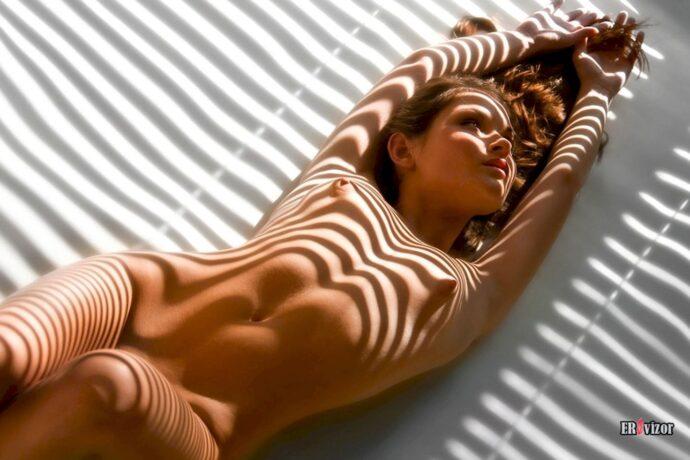 Эротичные тени от жалюзи (17 фото)